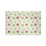 Yuletide Polka Trees Rectangle Magnet