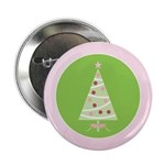 "Yuletide Polka Trees 2.25"" Button"