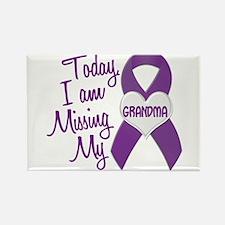 Missing My Grandma 1 PURPLE Rectangle Magnet