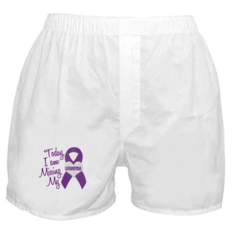 Missing My Grandma 1 PURPLE Boxer Shorts