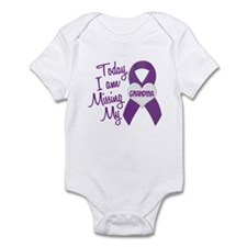 Missing My Grandma 1 PURPLE Infant Bodysuit