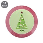 "Yuletide Polka Trees 3.5"" Button (10 pack)"