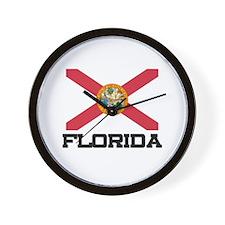 Florida Flag Wall Clock