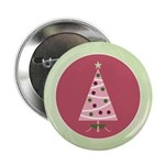"Yuletide Polka Trees 2.25"" Button (10 pack)"