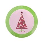 "Yuletide Polka Trees 3.5"" Button (100 pack)"