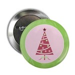 "Yuletide Polka Trees 2.25"" Button (100 pack)"
