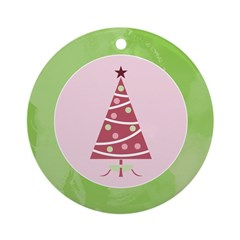 Yuletide Polka Trees Ornament (Round)