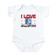 I Love Jellyfish Infant Bodysuit