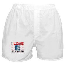 I Love Jellyfish Boxer Shorts