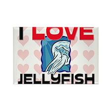 I Love Jellyfish Rectangle Magnet
