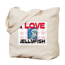 I Love Jellyfish Tote Bag