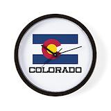 Colorado flag Wall Clocks