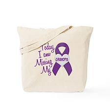 Missing My Grandpa 1 PURPLE Tote Bag