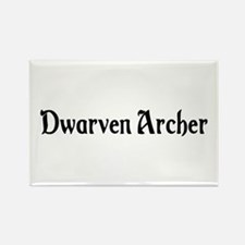 Dwarven Archer Rectangle Magnet
