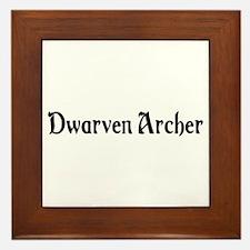 Dwarven Archer Framed Tile