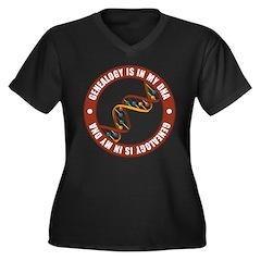 In My DNA Women's Plus Size V-Neck Dark T-Shirt