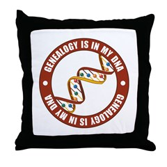 In My DNA Throw Pillow