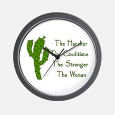 Harsh Conditions Strong Woman Wall Clock