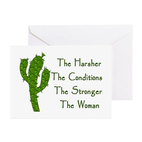 Harsh Conditions Strong Woman Greeting Cards (Pk o