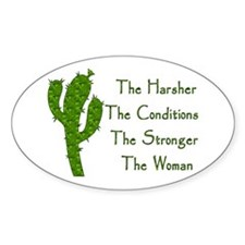 Harsh Conditions Strong Woman Decal