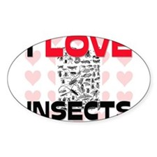 I Love Insects Oval Decal