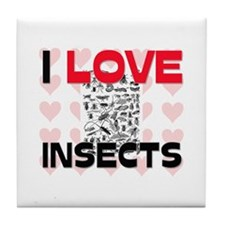 I Love Insects Tile Coaster