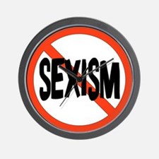 No To Sexism Wall Clock