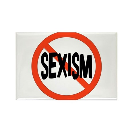 No To Sexism Rectangle Magnet