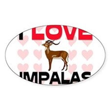 I Love Impalas Oval Sticker