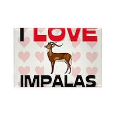 I Love Impalas Rectangle Magnet