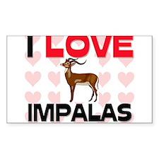 I Love Impalas Rectangle Sticker