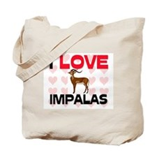 I Love Impalas Tote Bag