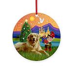 Golden Christmas Fantasy Keepsake (Round)