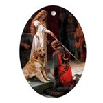 The Accolade & Golden Retreiver Keepsake (Oval)