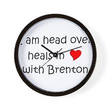 Funny I love brenton Wall Clock