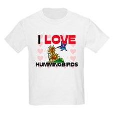 I Love Hummingbirds Kids Light T-Shirt