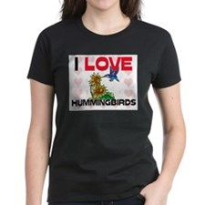 I Love Hummingbirds Women's Dark T-Shirt