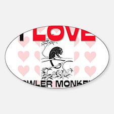 I Love Howler Monkeys Oval Decal