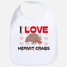 I Love Hermit Crabs Bib