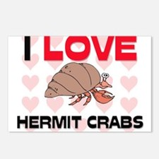 I Love Hermit Crabs Postcards (Package of 8)