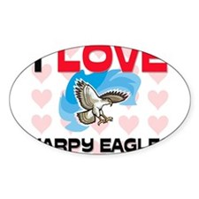 I Love Harpy Eagles Oval Decal