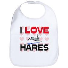 I Love Hares Bib