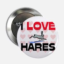 """I Love Hares 2.25"""" Button"""
