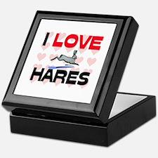 I Love Hares Keepsake Box