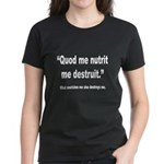 Latin Nourish and Destroy Quote (Front) Women's Da