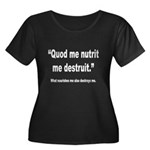 Latin Nourish and Destroy Quote (Front) Women's Pl