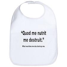 Latin Nourish and Destroy Quote Bib