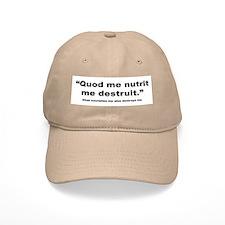 Latin Nourish and Destroy Quote Baseball Cap