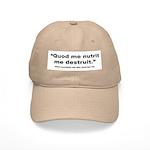 Latin Nourish and Destroy Quote Cap