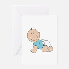 Boy baby bump Greeting Card